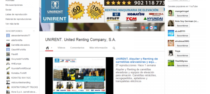 Video de presentación UNIRENT. United Renting Company, S.A.