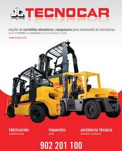 TECNOCAR, una de las primeras empresas españolas especializadas en la fabricación, financiación, servicio de postventa, alquiler de carretillas elevadoras y maquinaria para movimiento de mercancías